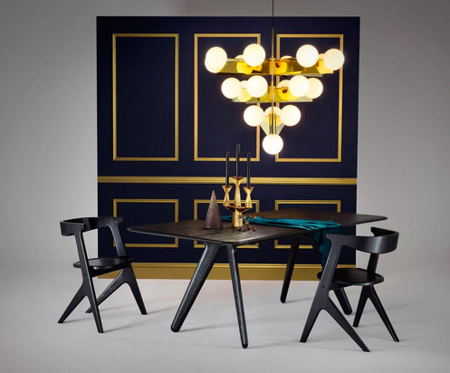 4. Make sure your table is big enough. There is nothing less luxurious than feeling cramped - check this solid table from Tom Dixon