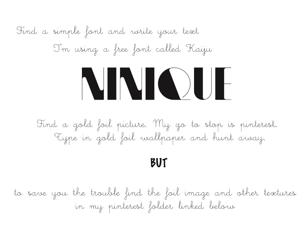 http://www.pinterest.com/Niniqueboard/gold-foil-font-projects/