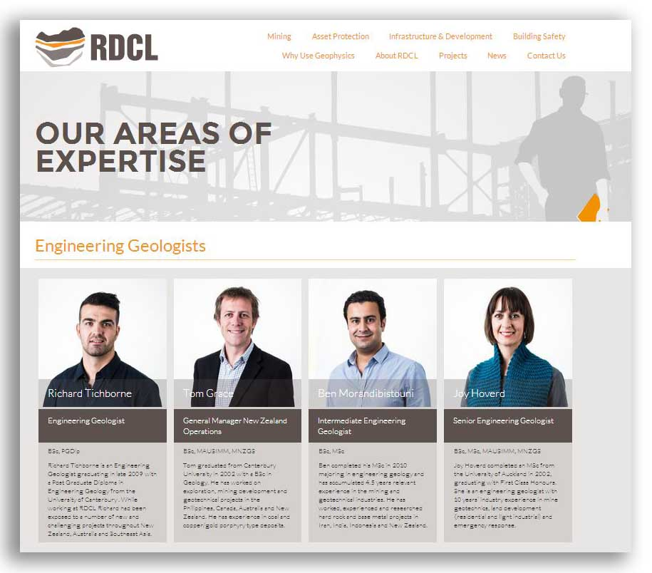 RDCL website screenshot