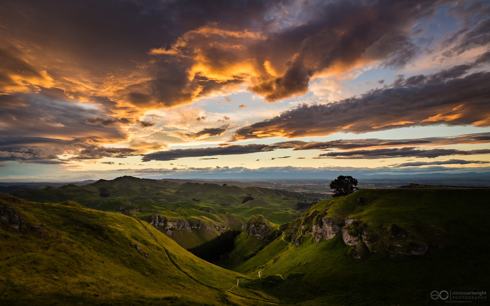 Sunset on Te Mata Peak, Hawkes Bay this evening