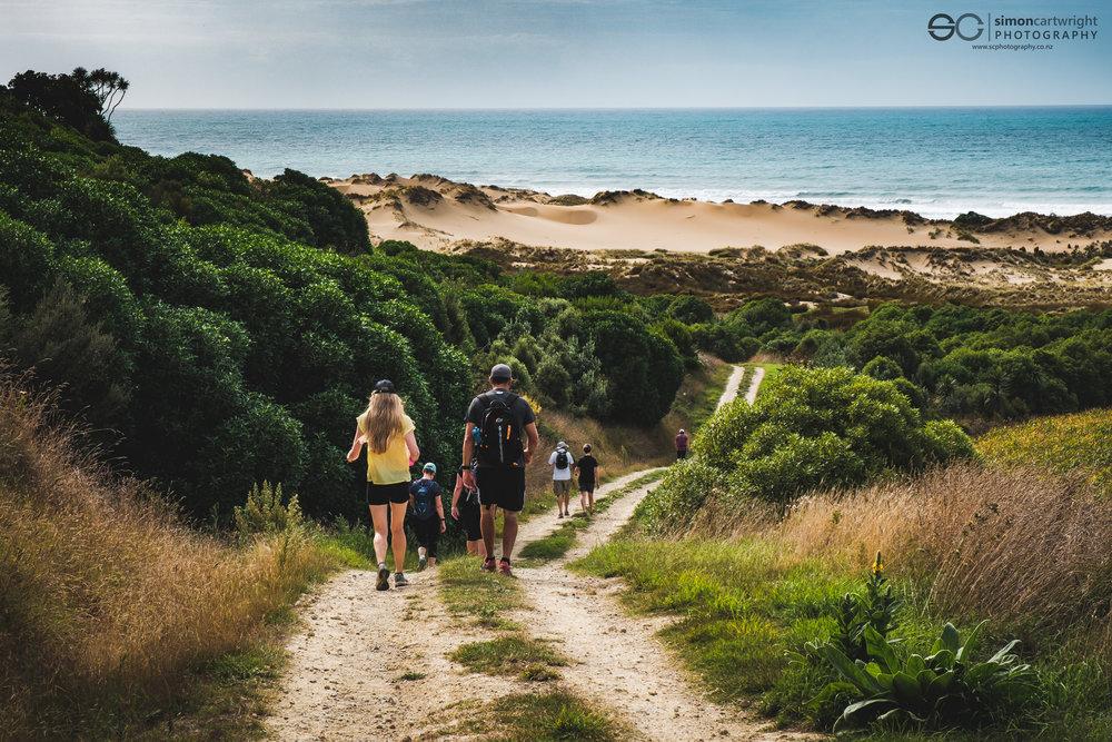 Walking towards the dunes