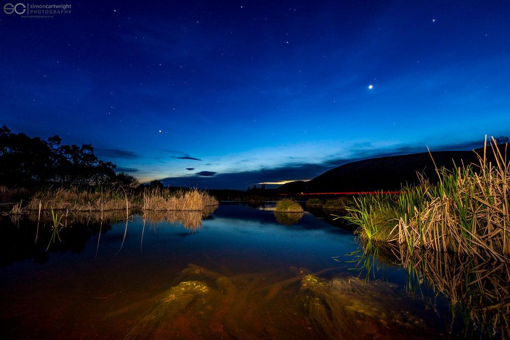 Peka Peka Wetlands at Night