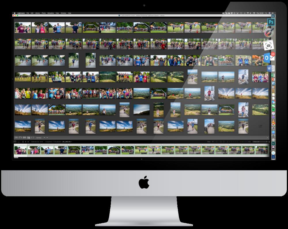 Apple iMac with Adobe Lightroom