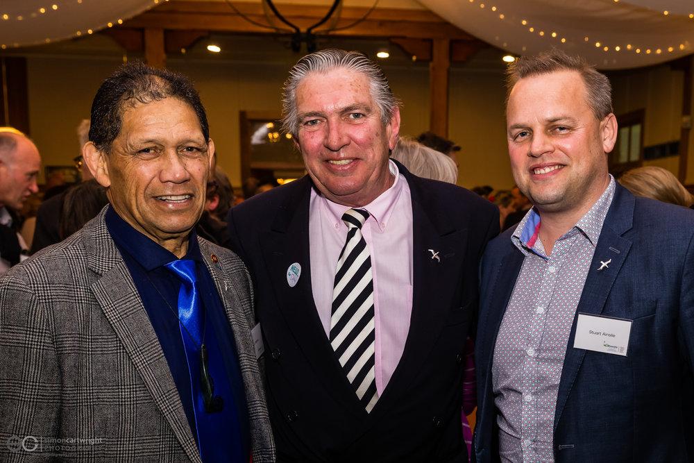 From left: Des Ratima, Sam Jackman & Stuart Ainslie
