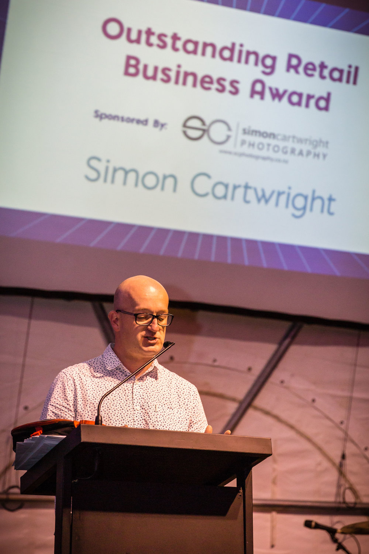 Simon Cartwright presenting