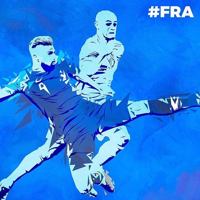 Finalist! 🙌🏻🇫🇷🏆🏅⚽️ #France @equipedefrance @oliviergiroudofficial #fra #equipedefrance
