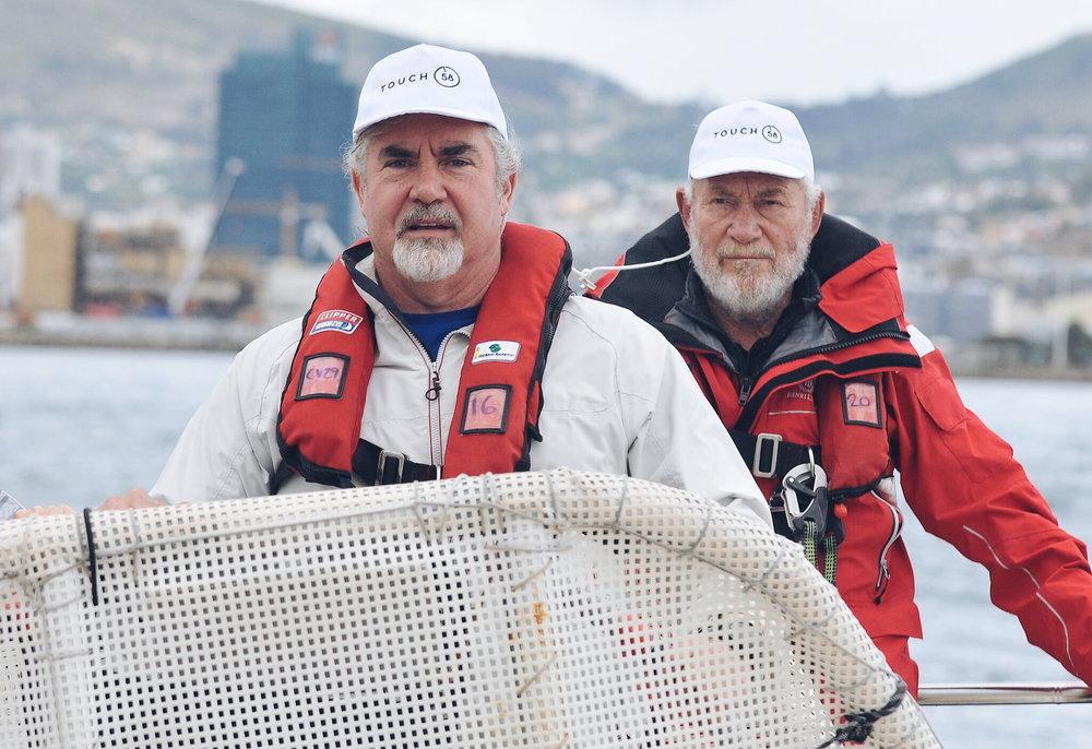 Raymond van Niekerk and Sir Robin Knox-Johnston