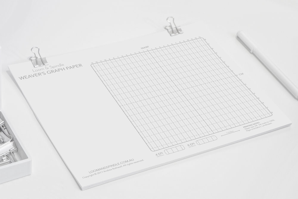 Weaver's Graph Paper By Loom &  Spindle