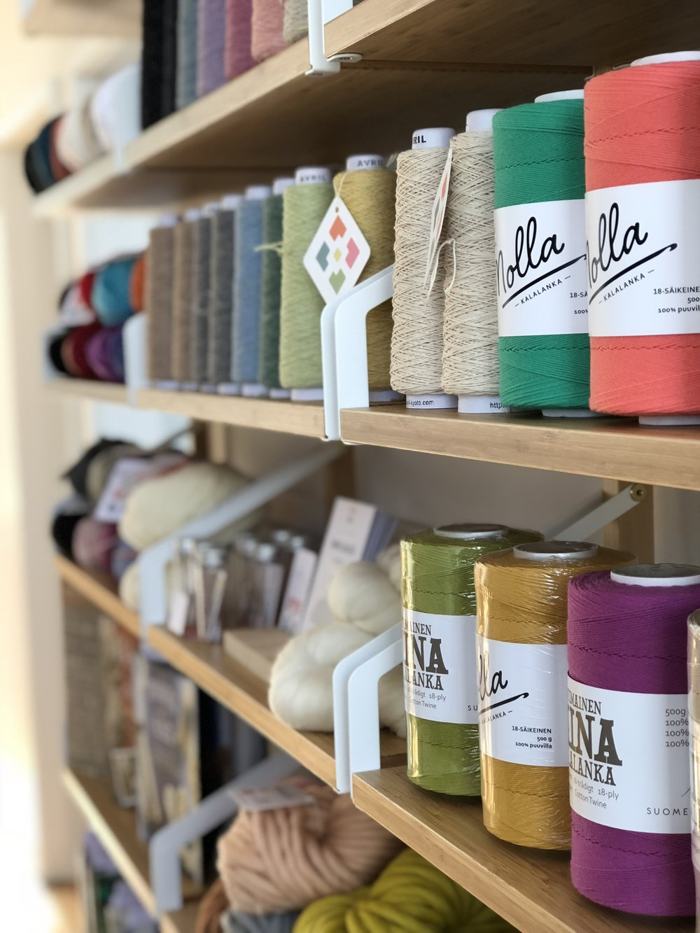 In 2018, Loom & Spindle moved out of home and into their first studio shop space! This light-filled hideaway in Melbourne's south-east offers a tranquil setting for learning and crafting. Come in to experience our range of craft tools, fibre and yarn. Stay to practice your craft and workshop your projects. - LOCATEDFirst Floor, 16 Station St, Frankston VIC 3199REGULAR HOURSSunday, 10am to 2pm