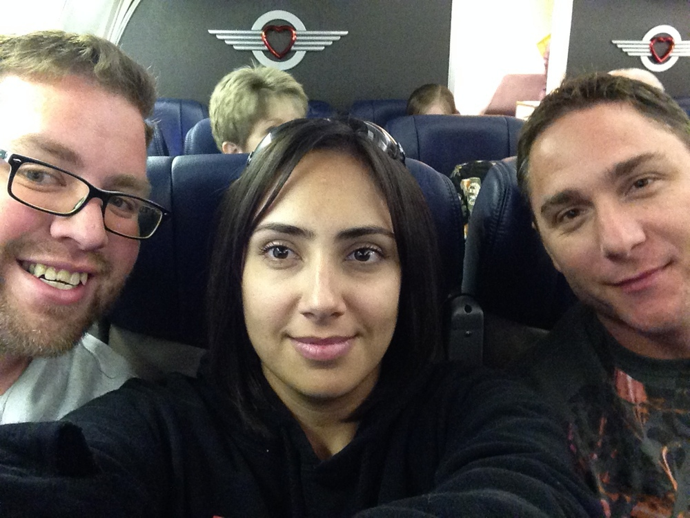 Richard, Sara and Jonathan on their way to Orlando Florida.