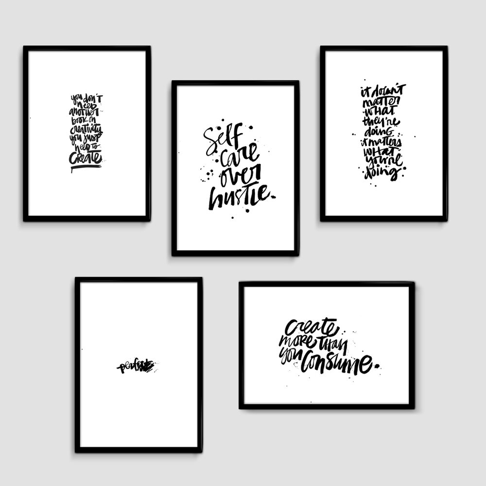 Digital Print Bundle of 5