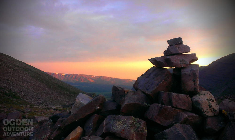 Gunsight Pass in the High Uintas at dawn.