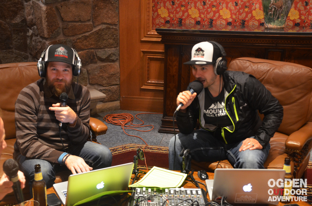 Todd to the Top and Host Brandon Long of the Ogden Outdoor Adventure Show.