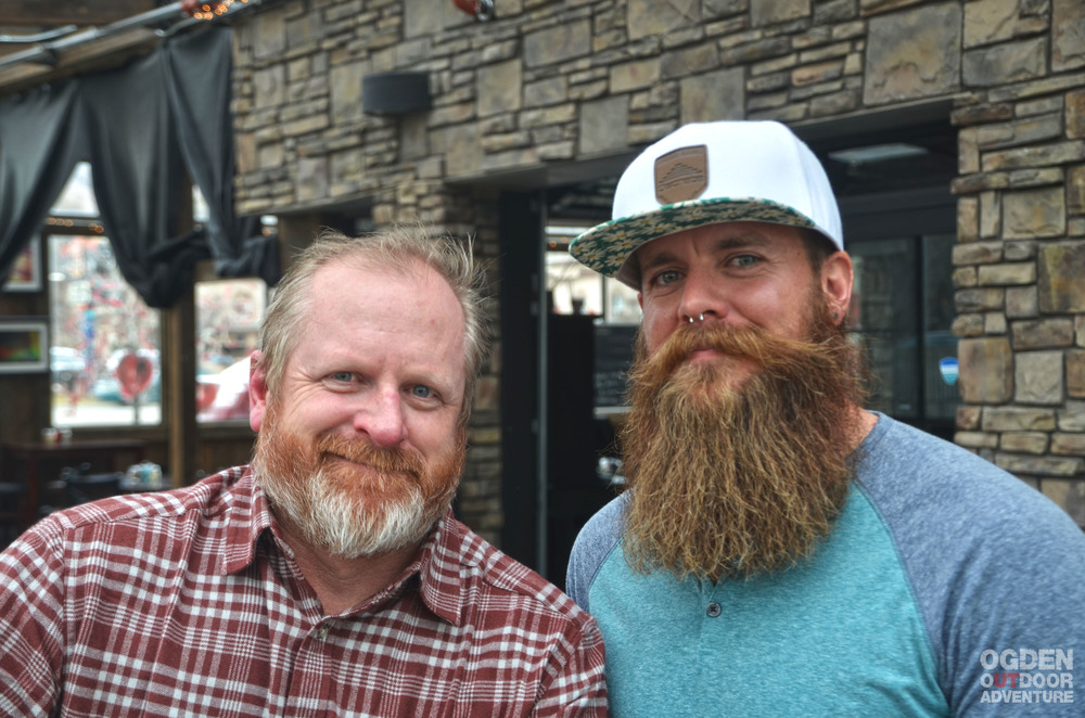 Shane Osguthorpe with  Visit Ogden  and Nic Mahoskey, World Beard & Mustache Champion