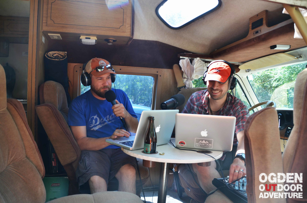 First podcast on location inside the Tan Van! Powered only by the Goal Zero Sherpa 50.