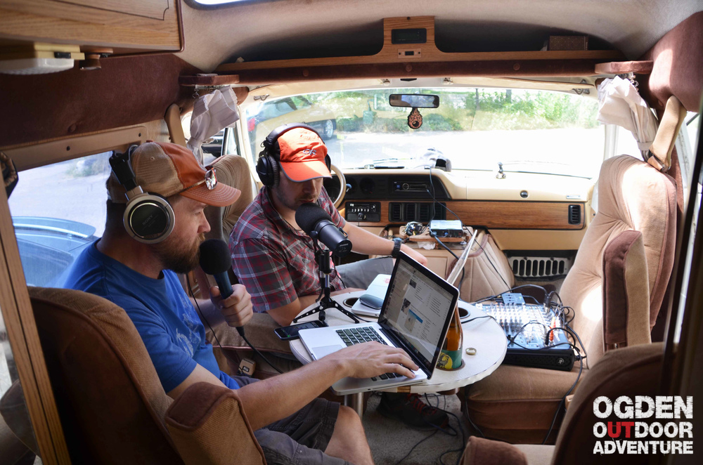 Cozy Tan Van podcasting.