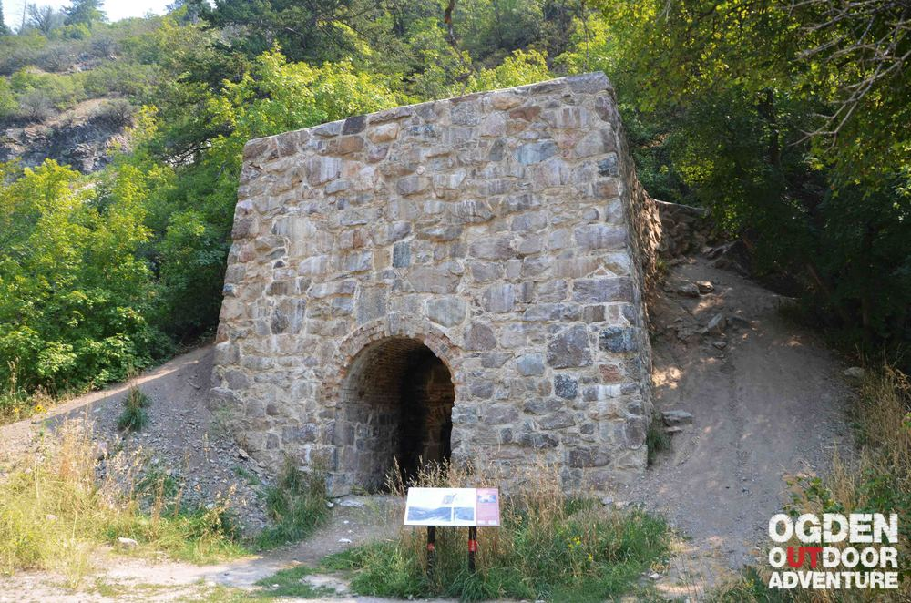 Lime kiln built in 1865 by James Moroni Thomas used to produce lime needed for pioneer era construction in Ogden.