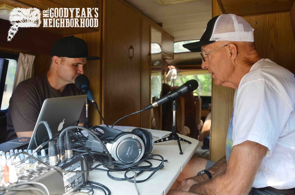 John Wojciechowski and Jim McGregor podcasting from the Tan Van at Indian Trail.