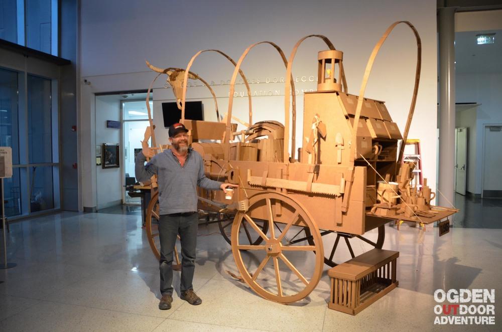 Visiting Artist Kiel Johnson and the In-Process Community Built Prairie Schooner