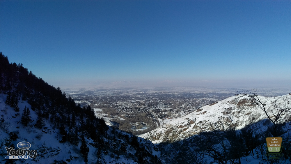 Ogden as seen from Indian Trail in Ogden Canyon on New Year's Eve, 2015.