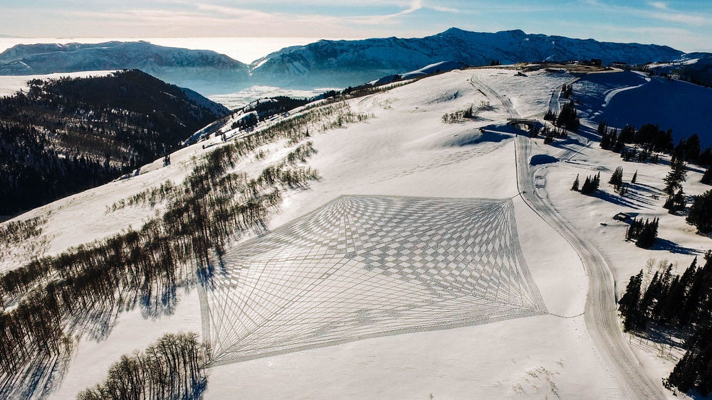 Simon Beck Snow Art at Powder Mountain - Photo Courtesy Marshall Birnbaum, Summit Powder Mountain