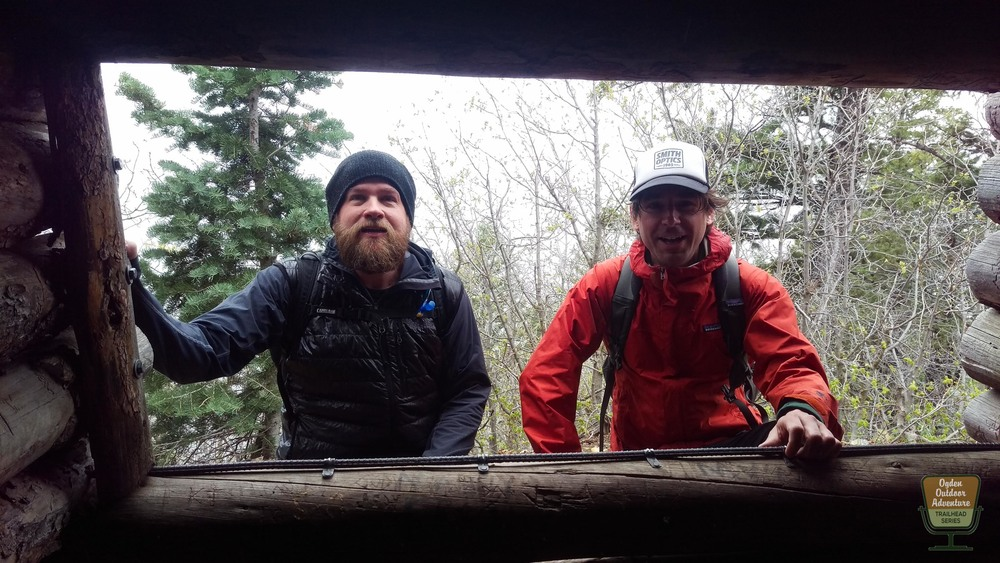 Todd to the Top and David Owen of Ogden Trails Network at the Indian Trail Shelter.