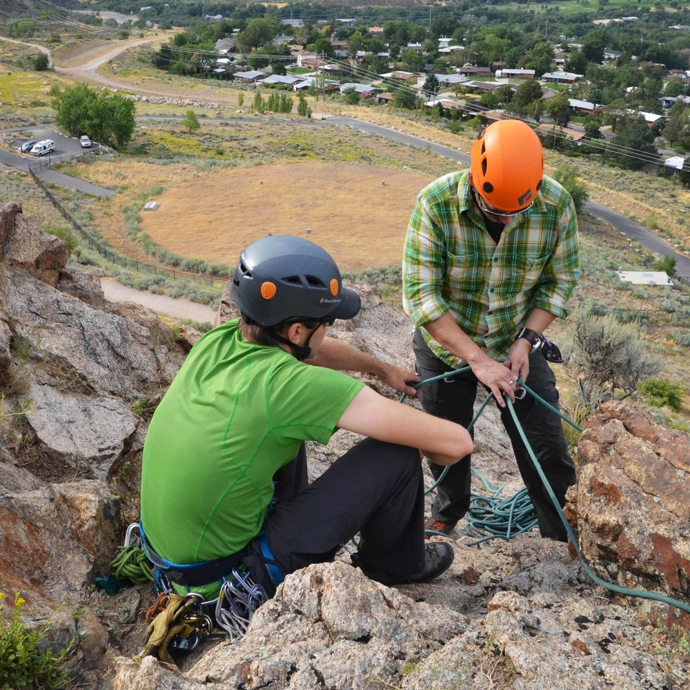 Climbing safety with Bear House Mountain Guiding