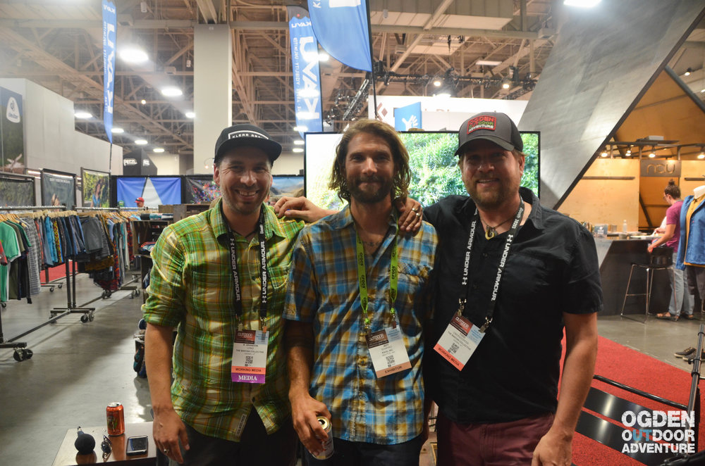 Left to right: R. Brandon Long - OOA Show Host, Jeff Shapiro - KAVU Athlete, Todd to the Top - OOA Show Co-Host