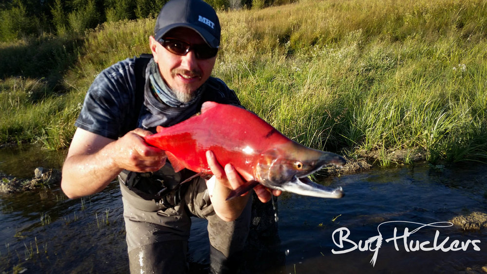 Grant Weaver with his Kokanee Salmon friend.