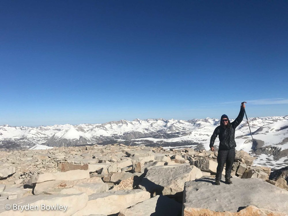 Bryden Bowley through-hiking the Pacific Crest Trail