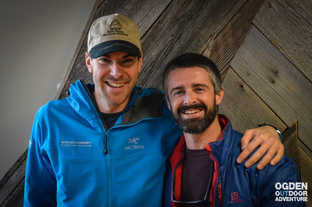 Derek DeBruin of Bear House Mountain Guiding and J.T. Robinson of Vertical Integration