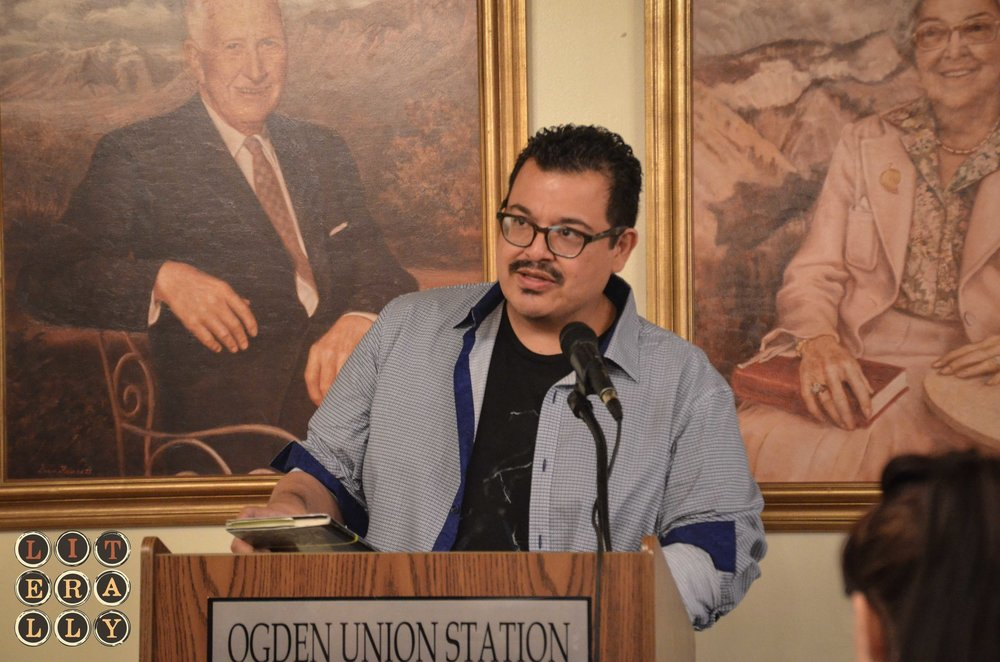 Eduardo C. Corral during the Utah Humanities Book Festival