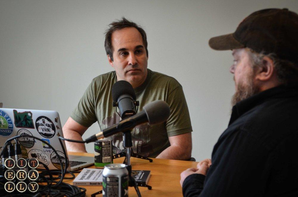Trevor Baierl interviewing LITerally Host Kase Johnstun on Craniosynostosis.