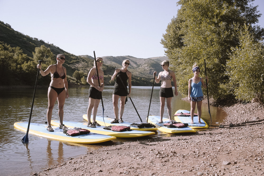 Our first group of the evening last Tuesday for the Weber Outdoor Program & GEAR:30 SUP Demo at Causey. Info on upcoming events  here . Image: Bryden Bowley