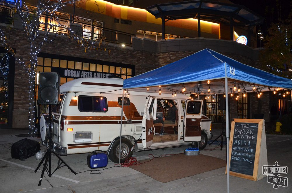 #TanVan at Illuminate parked in front of the Urban Arts Gallery. Huge thanks to Andrew with the Ogden Ballet Association for snapping pics for us!