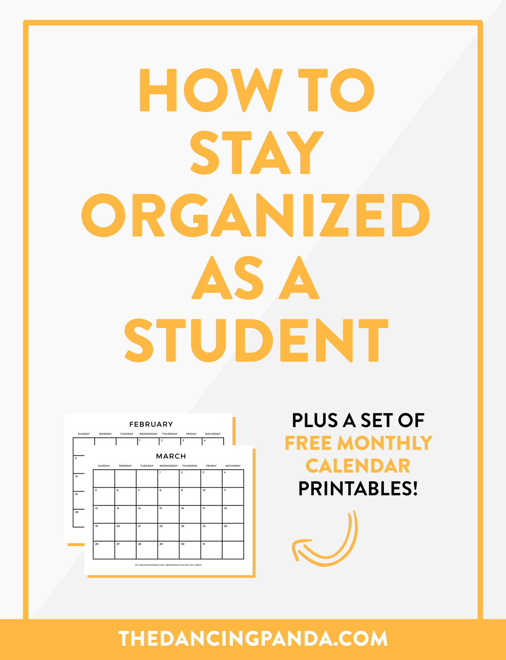 Learn how to become a more organized student! apps, systems and methods for organization as a student. >> thedancingpanda.com