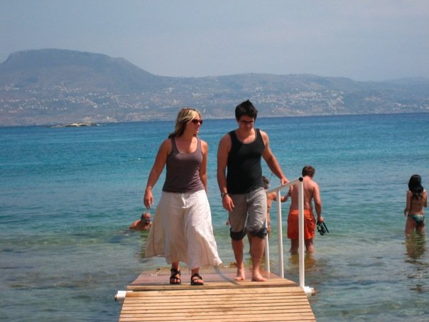 With Celeste, Souda Bay, Crete, 2009