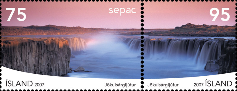 jokularsgljufur stamp, 2007, image © Me