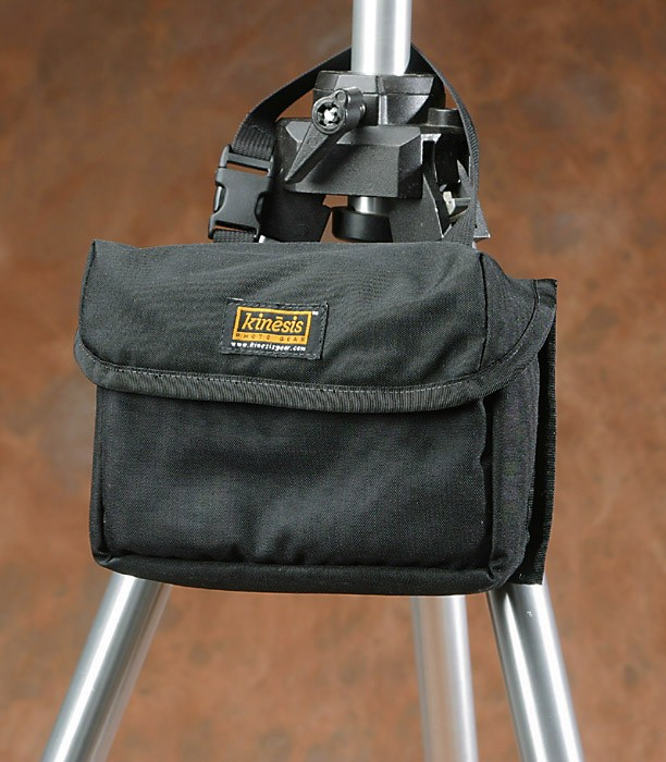 kinesis Large Grad Pouch, goes around your tripod collar, for easy access to the 'indexed' card system of filters inside.