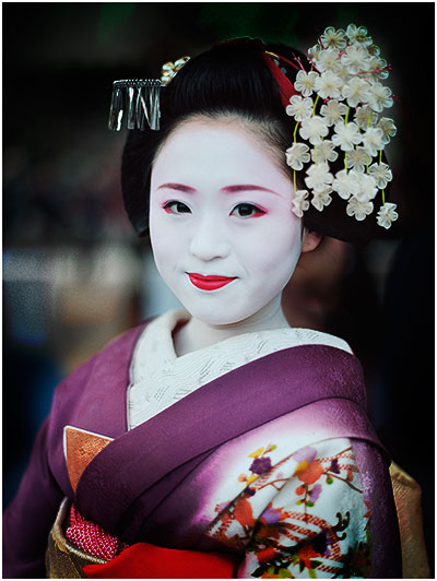 Maiko,京都,2014年2月,© Bruce Percy