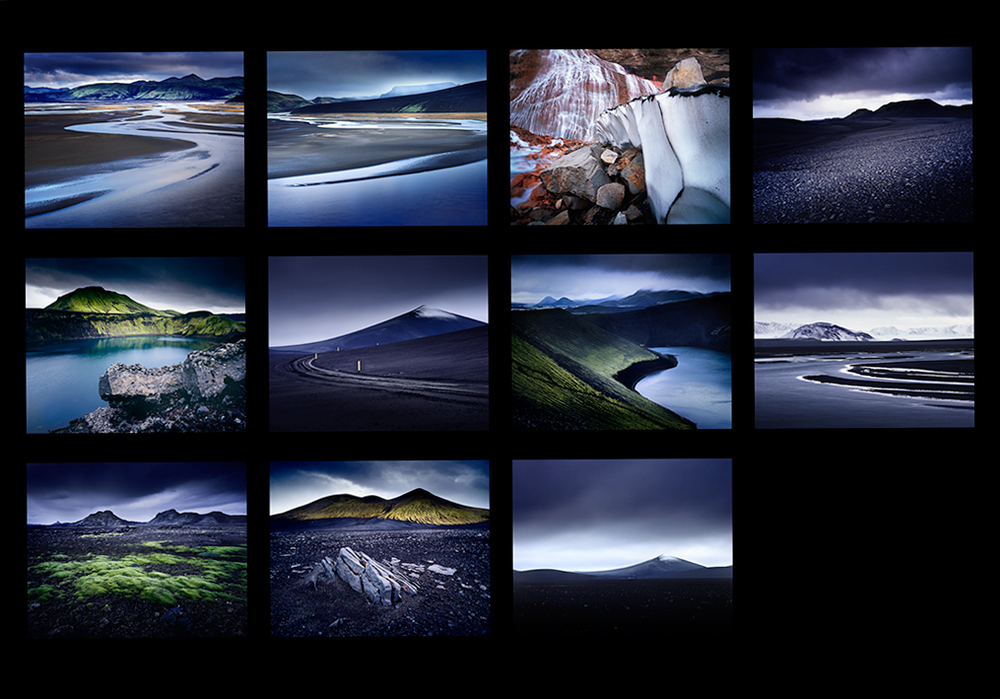 The black deserts and volcanos of the central highlands of Iceland.Images © Bruce Percy. Mamiya 7 camera, Fuji Velvia RVP 50 film.