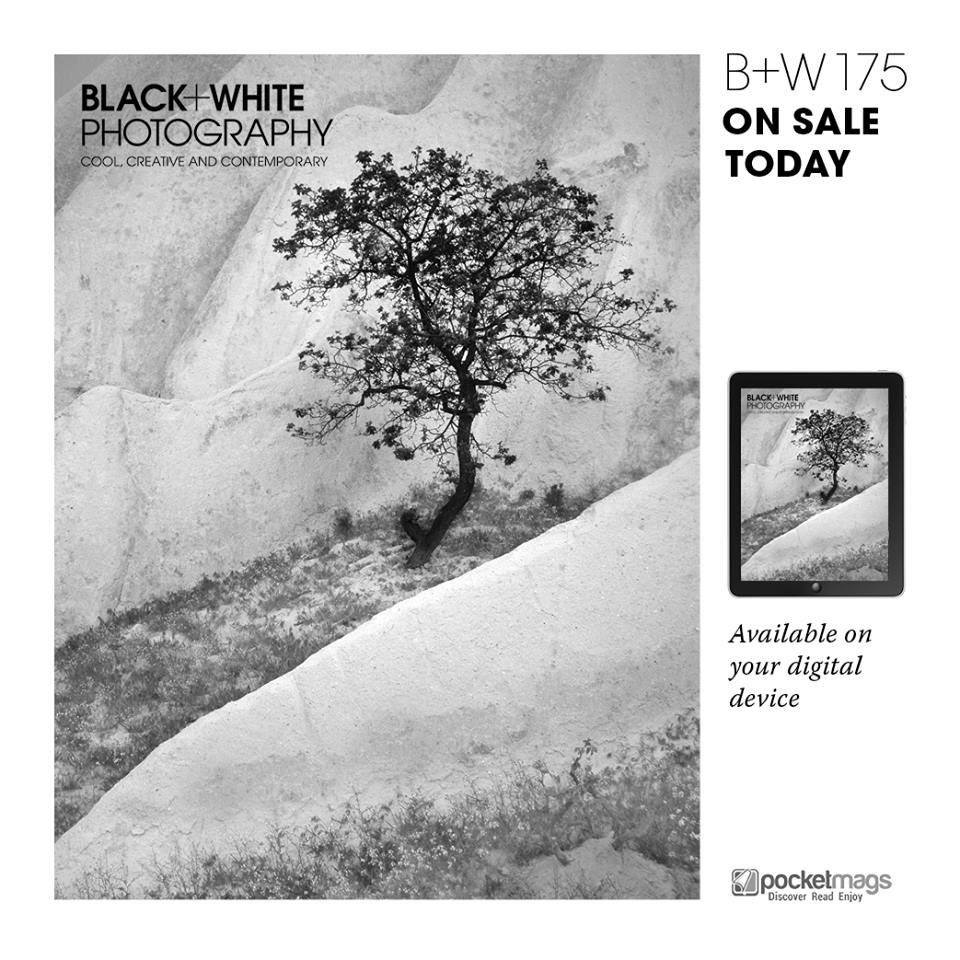 Front cover of Black+White Photography magazine.