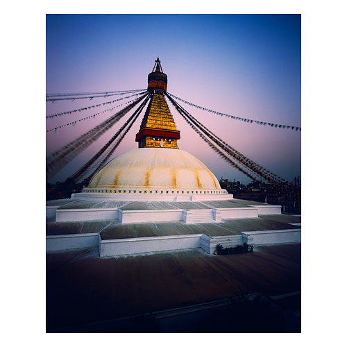 Bodhua Stupa, which has unfortunately been damaged in the earthquake.