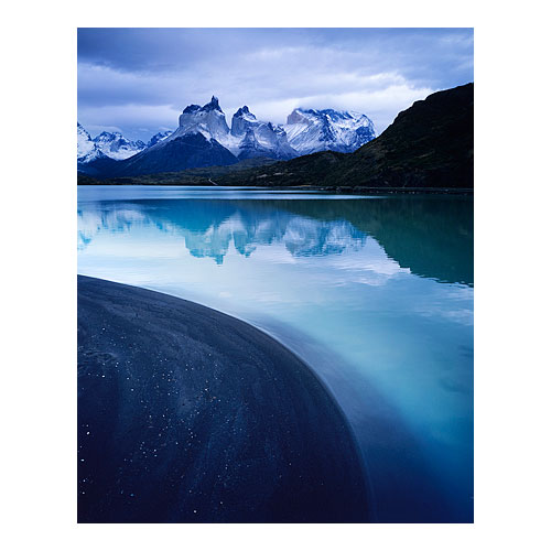 The Paine massif, shot from Lago Pehoe, Torres del Paine, 2009.