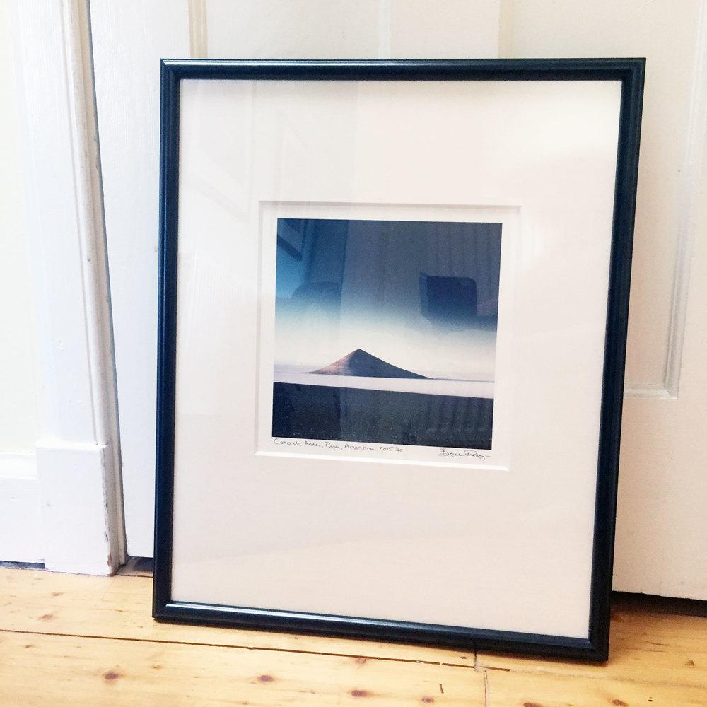 Cono de Arita, Puna de Atacama, print, framed.
