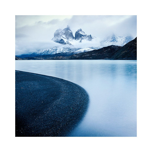 The Cuernos (horns) of Paine, from Lago Pehoe, Torres del Paine national park. Chilean Patagonia. One of my most favourite places in the world!. Image © Bruce Percy