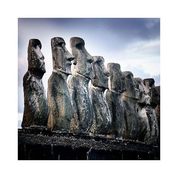 Ahu Tongariki, Easter Island Image © Bruce Percy 2016