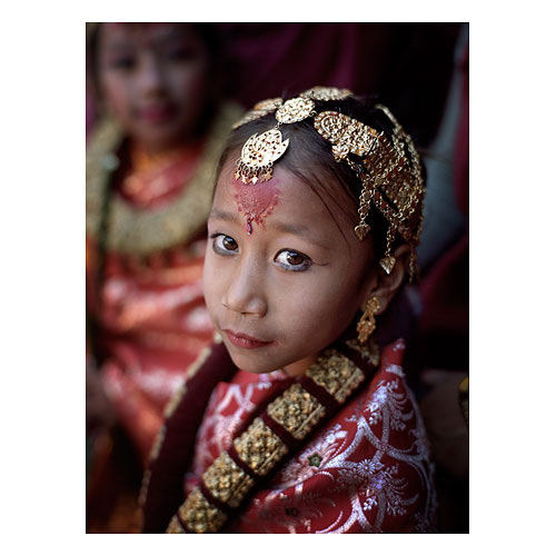 Nepalese girl, Baktapur, Kathmandu Image © Bruce Percy 2009