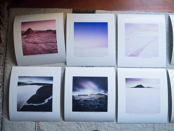 Some printed contenders for the exhibition.