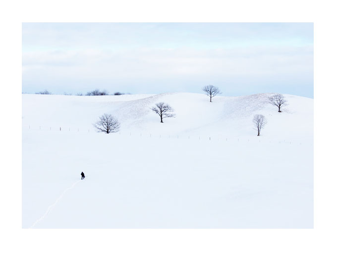 Context shot, showing me on location in Hokkaido.  Image shot by my Hokkaido guide, January 2017